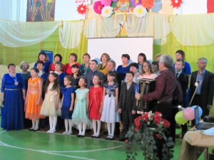 Коллектив школы на юбилее